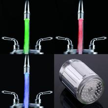 LED Light Water Tap Heads Temperature Sensor RGB Glow LED Shower Stream Bathroom Shower faucet 7 Color Changing