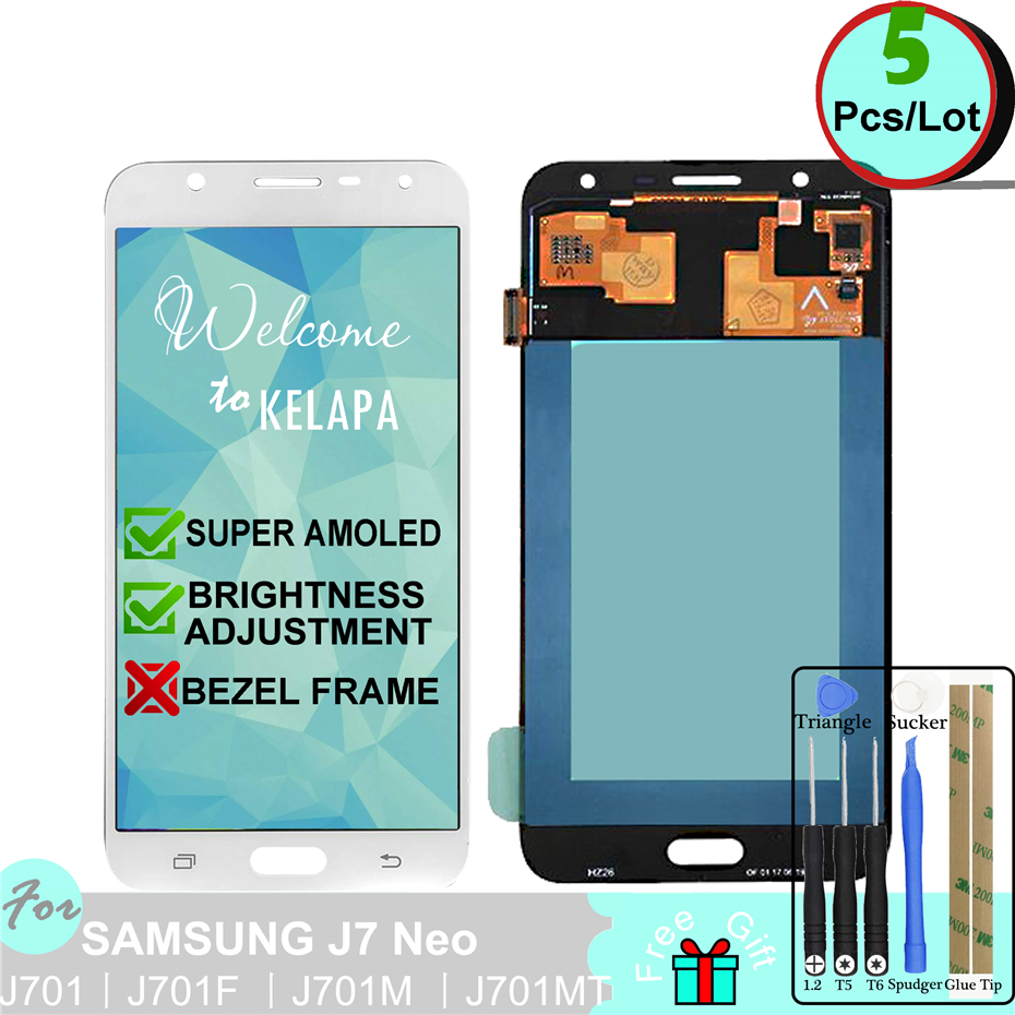 5 x Super AMOLED LCD For Samsung Galaxy J7 Neo J701F J701M J701MT J701 Touch Screen Digitizer Assembly5 x Super AMOLED LCD For Samsung Galaxy J7 Neo J701F J701M J701MT J701 Touch Screen Digitizer Assembly