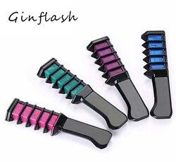 Мел тушь для ресниц новый дизайн мелки для волос Цвет Мел для временной синей краски волос с расческой