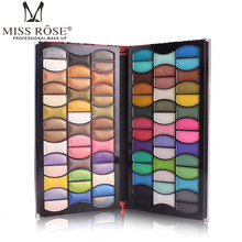 Miss Rose 82 Color Full Professional Makup Set Glitter Loose Eyeshadow Pigments Shimmer Matte Eye Shadow Pallette Red