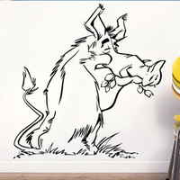 Free Shipping DIY Wall stickers Cartoon stickers wall decor decals home stickers art PVC vinyl DWild boar K-151