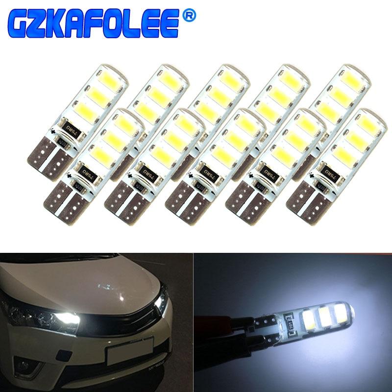 Gzkafolee 10pcs Clearance Lights T10 W5w Led Turn Signal Car Lights 12V 5630 SMD 100LM 5W