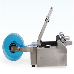 Small Capacity Manual Adhesive Sticker Labeling Machine for Different size Round Bottles