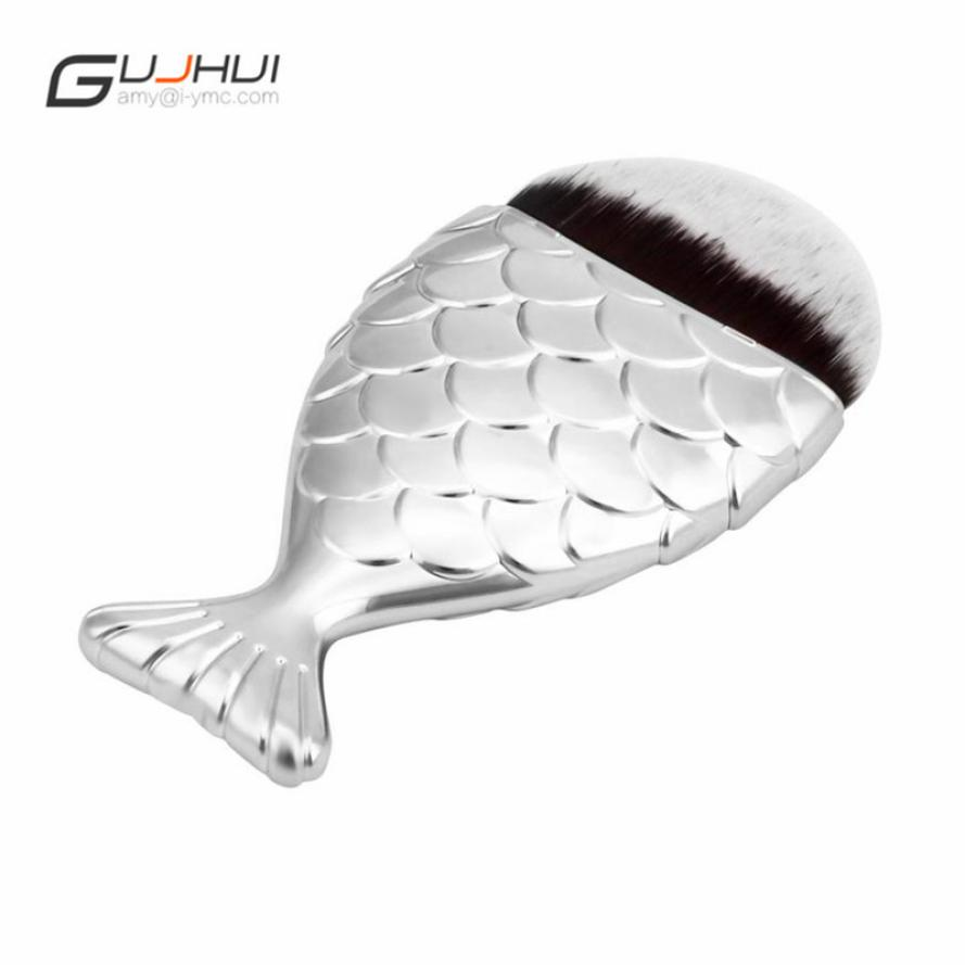pinceaux Fish Scale Makeup Brush Fishtail Bottom Brush Powder Blush Makeup Cosmetic Brushes Tool limpiador de brochas 2017s6 1000g 98% fish collagen powder high purity for functional food