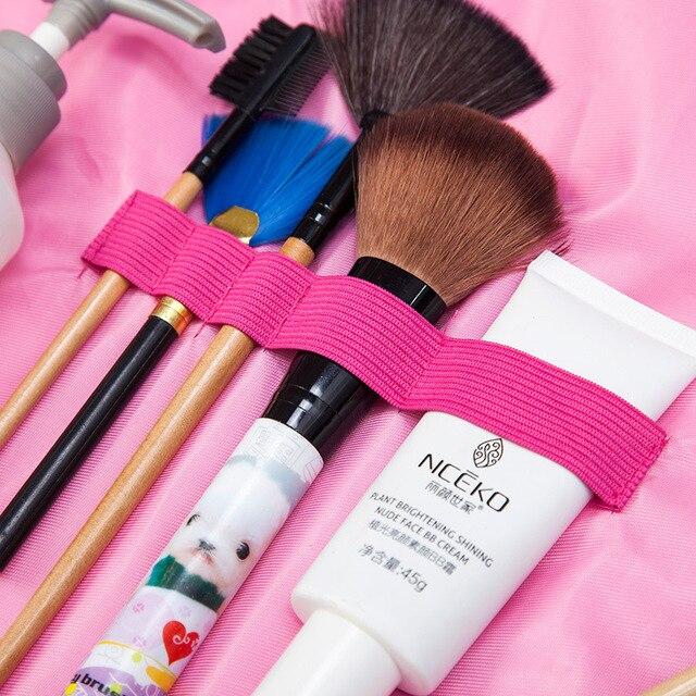 Round New Plush Makeup Case Magic Drawstring Cosmetic Bag Female Travel Make Up Bag Organizer Storage Pouch Toiletry Wash Kit 5
