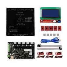 3D Printer Controller Kits with MKS Gen V1.4 RepRap Ramps1.4 + 12864 Smart LCD Display + Heated Bed + 5PCS A4988 Stepper Motor geeetech 3d start kits smart square lcd12864 display adaptor 5pcs drv8825 stepper motor driver ramps1 4 shield iduino mega2560