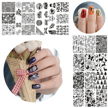 Nail Stamping Plates Image Konad Manicure Lace Stainless Steel Art Stamp Templates