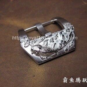 1PCS Men Silver 22mm / 24mm Wa
