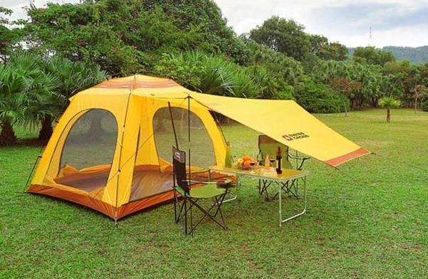 Hapësira e jashtme Shade Shelter Beach Canopy Camping Tenda Hiking - Kampimi dhe shëtitjet - Foto 2