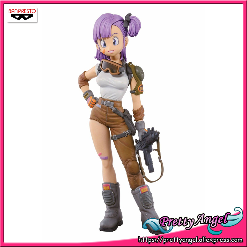 PrettyAngel - Genuine Banpresto Scultures BIG Zoukei Tenkaichi Budoukai Dragon Ball Bulma Collection Figure dragon ball original banpresto scultures big zoukei tenkaichi budoukai collection figure lunchi launch rosso color ver
