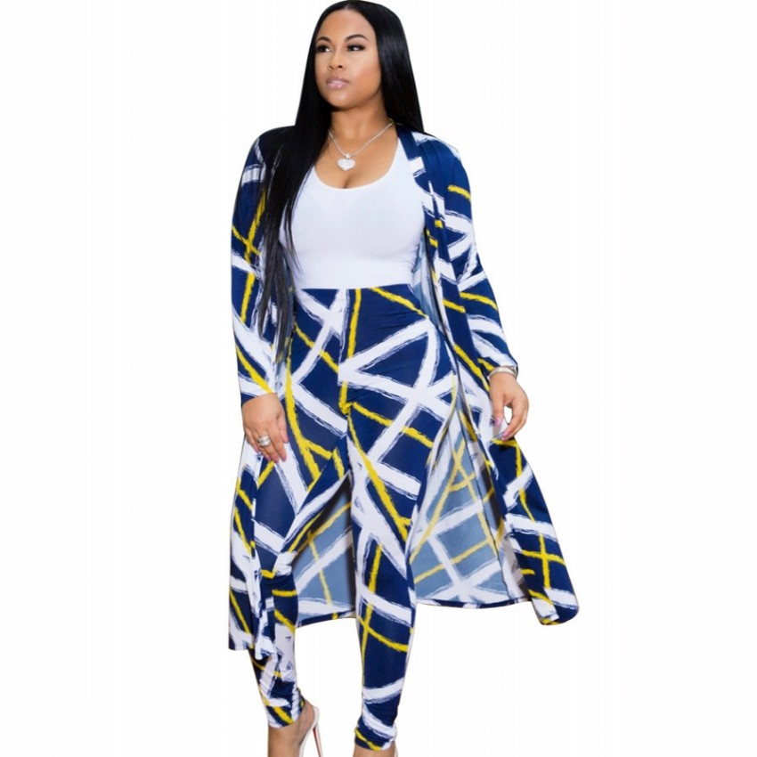 2 Piece Set New African Print Elastic Bazin Baggy Pants Rock Style Dashiki SLeeve Famous Suit For Lady/women Coat And Leggings