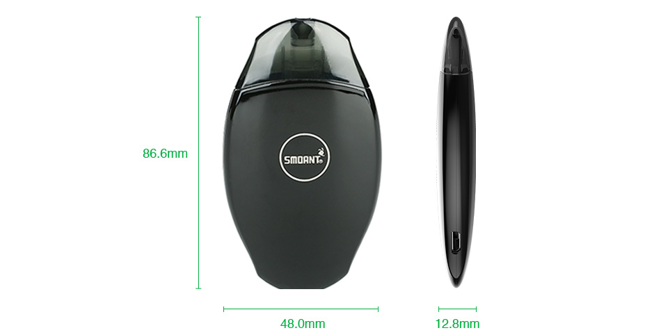 , 100% Original Smoant S8 Pod Starter Kit All-in-one Style Kit with 2ml Capacity Catridge & 370mAh Built-in Battery E-cig Vape Kit