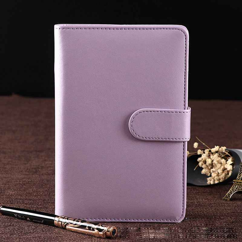 A5 Perencana Mingguan Bulanan Diary Klasik Loose-Leaf Ring Binder Cover Notebook