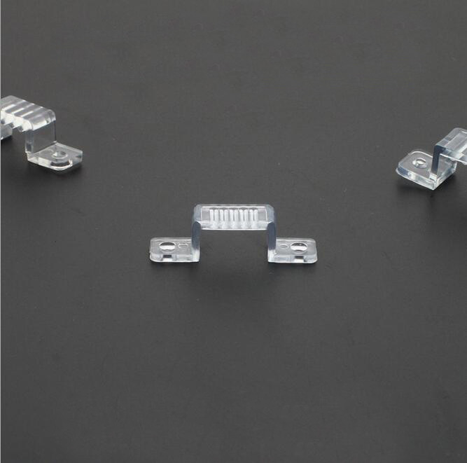 3014/3528/5050 LED Strip Durable Transparent Clip Connector Flat Optic Fiber Light Cable Clip Connector
