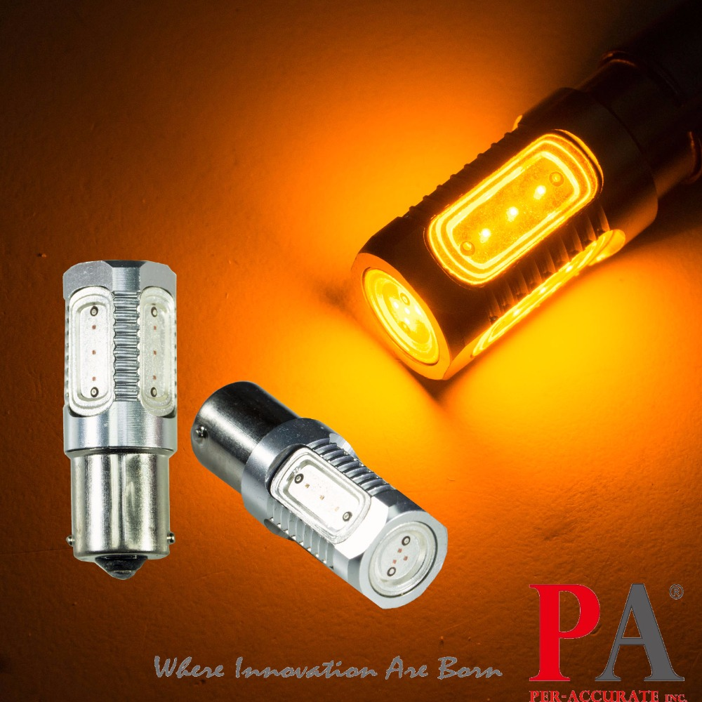 PA LED 2pcs x 9-32V 1156 BA15S COB LED Yellow Orange Amber P21/5W Brake Tail Turn Light  ...