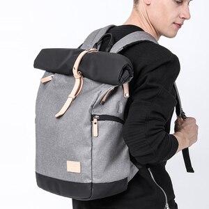 Image 3 - KAKA Brand Men Women Backpack Bag College Casual School Backpack Male Travel Bag 15.6 USB Laptop Backpacks Mochila knapsack