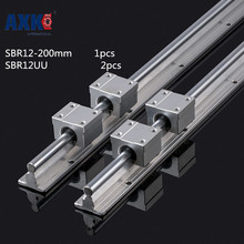 2019 Real Limited Cnc Router Parts Axk Axk 12mm Linear Rail Sbr12 200mm And 2 Pcs Sbr12uu Bearing Blocks For Cnc Parts Guide 100% original hiwin 2 pcs hiwin linear guide hgr20 450mm linear rail with 4 pcs hgh20ca linear bearing blocks for cnc parts