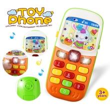 Электронный игрушечный телефон для детей детский мобильный телефон развивающие Обучающие игрушки Музыка звуковая машина игрушка для детей(цвет случайно
