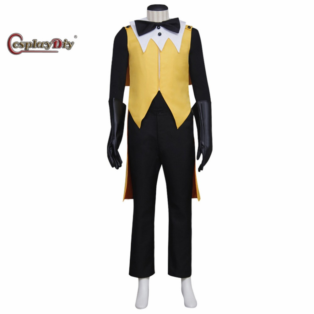 Cosplaydiy Gravity Falls Bill Cipher Cosplay Costume Mystery Attack Outfit Halloween Costumes for men Custoom Made