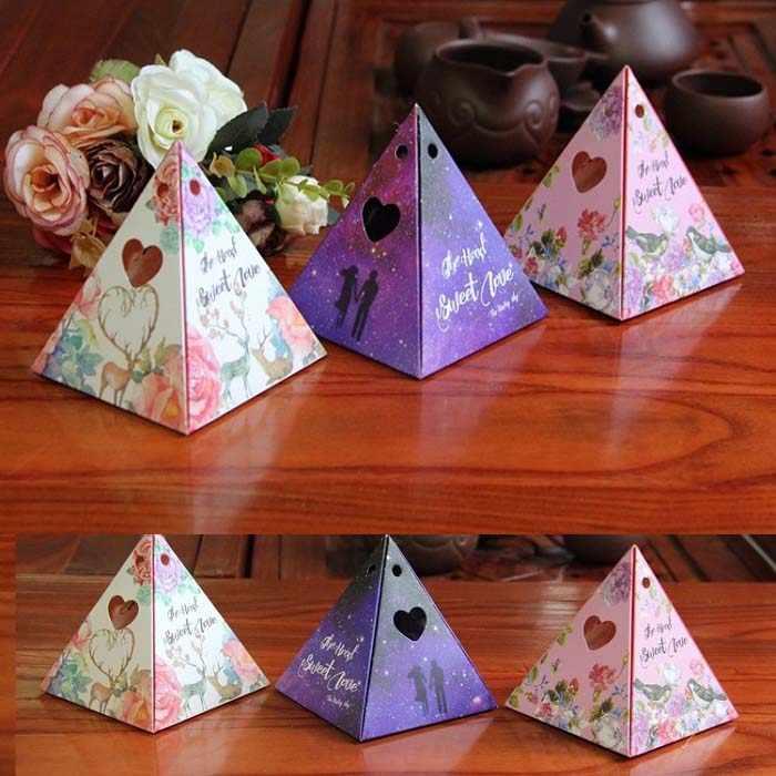 Праздничные принадлежности коробка для конфет упаковка для шоколада подарочная упаковка для дня рождения сувенир для свадебной вечеринки DIY маленькая звезда/небо цветок розовый Wh