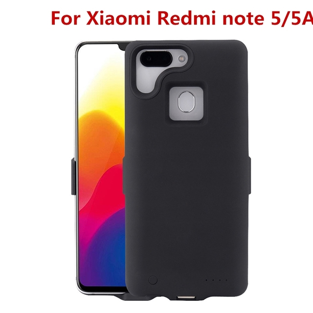 cheap for discount 2b96e 74d9e US $28.17 |For Xiaomi Redmi note 5 Battery Case 6500 mah Smart Battery  Charger Case Cover Power Bank For Xiaomi Redmi note 5A Battery Case-in  Battery ...