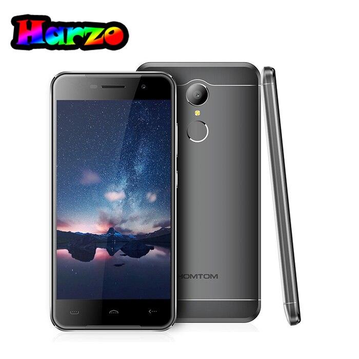 Цена за Оригинал homtom ht37 android 6.0 mtk6580 quad core gps смартфон 2 ГБ ram + 16 ГБ rom отпечатков пальцев 1280*720 8.0mp 3 г мобильный телефон
