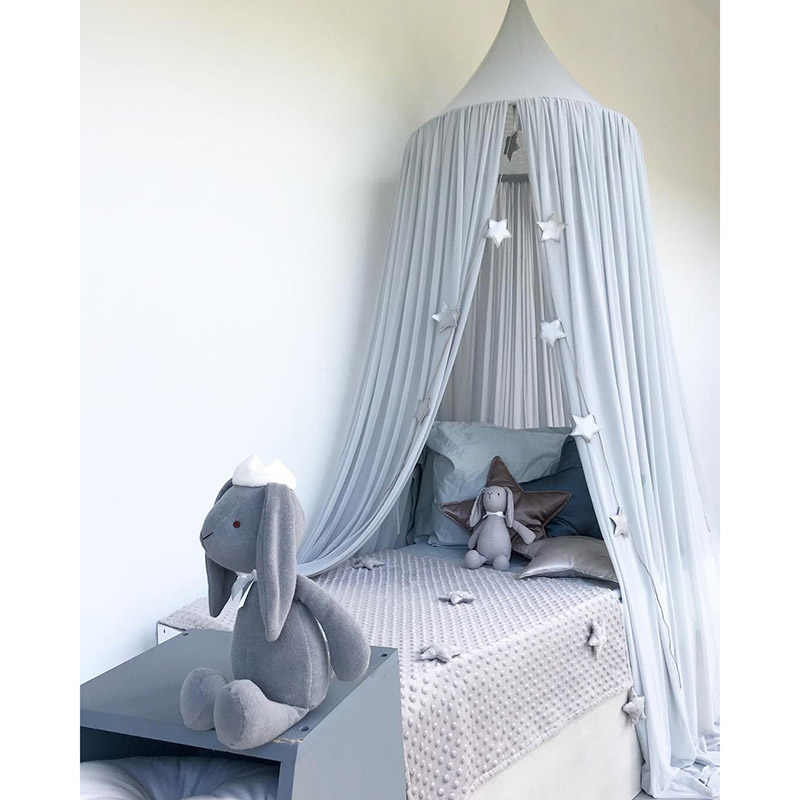 Baby Bed Canopy Curtains Kids Bed Tent Princess Girls Play Tent House Hanging Tent Round Hung Dome Children Room Dossel Baby