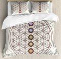 Flor de la vida funda nórdica Geometría Sagrada temáticas diversas formas triángulos círculos cuadrados Chakra Zen juego de cama Multicolor