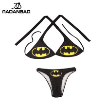 Bikini Black Swimsuit Women Batman