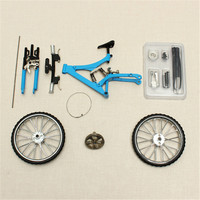 Mini Bike Model Simulation Toy DIY Alloy Mountain/Road Bicycle Set Decoration Gift Model Toys For Childern Kids Boy
