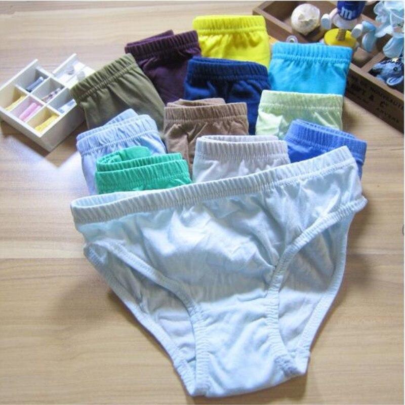 3pc Solid Baby Boys Panties Briefs Kids Underwear Boys  Panties Children  Underwear Suit for 1--12 Years 1