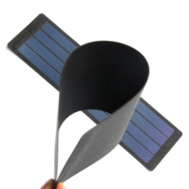 2w 6v Flexible Solar Cell Amorphous Silicon Diy Solar Panel Charger System For 3.7v Battery Waterproof 2pcs/lot Free Shipping Solar