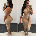 2016 New Fashion Women Summer Vestidos Dresses Sexy  Party Bandage Bodycon Evening Wedding Club Bodysuits Dresses one shoulder