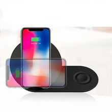 Youbina  2in1 QI Wireless Charger fast charging Stand for iPhone X 8 xr xs max apple watch Samsung