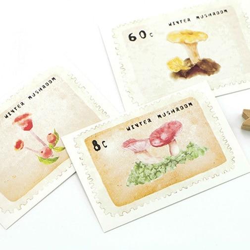 multi-use 5.2*8cm 54pcs Mini Card mushroom stamp design Scrapbooking party invitation cards valentine Christmas Scrapbooking