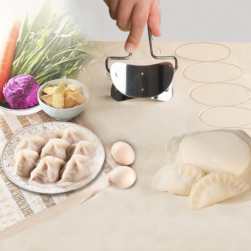Stainless Steel Dough Press Dumpling Maker Kitchen Tool For Making Dumpling Skin Maker Machine