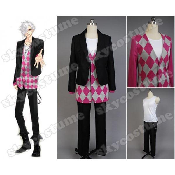 Brothers Conflict Tsubaki Asahina Anime Halloween Uniform Black Suit Pant For Men WomenCosplay Costume