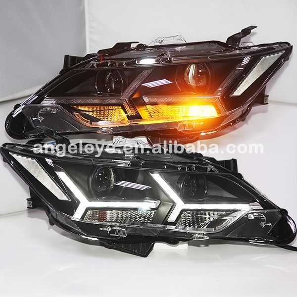 FOR TOYOTA 2015 year for Camry LED Bi Xenon Projector Lens Headlights PW