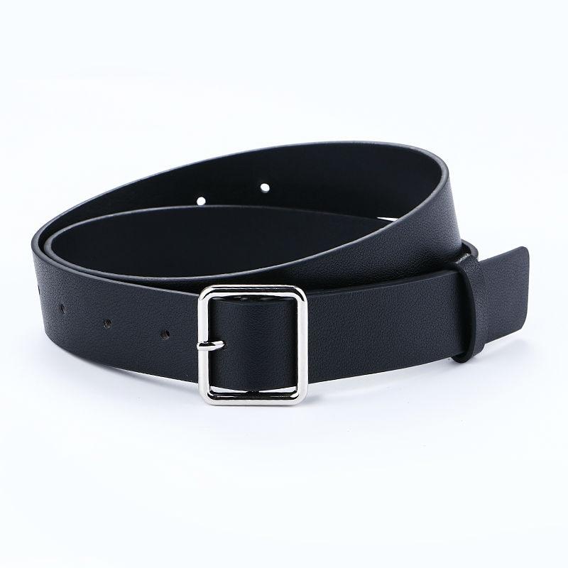 Más nuevo diseño mujer cinturón de plata pin cuadrado hebilla - Accesorios para la ropa - foto 2