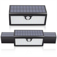 Solar Lights 71LEDs 3 In 1 Bright Security Motion Sensor Outdoor Solar Lamp 3 Modes Garden