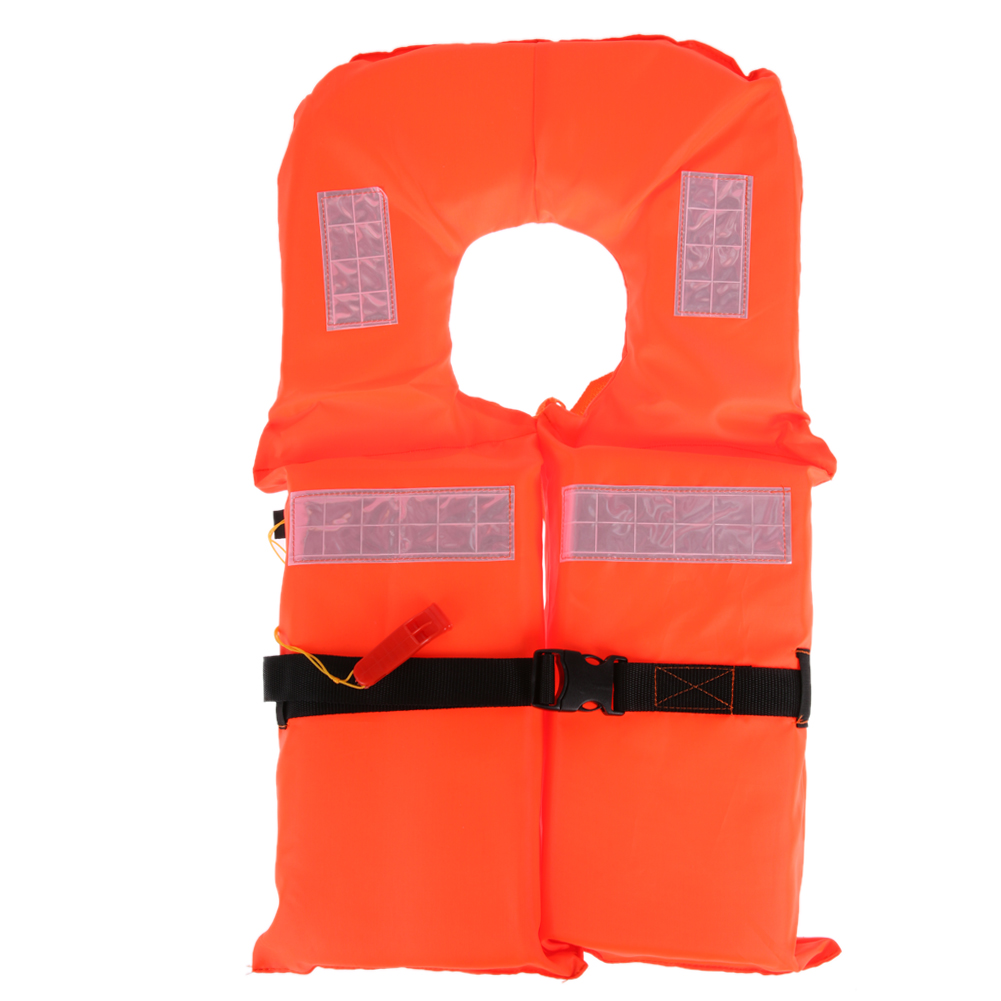 Universal Life Vest Polyester Life Jacket Foam Flotation Swimming Safety Orange Oxford Cloth Vest for Boating and Surfing