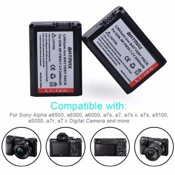 2Pcs 2000 Mah NP-FW50 Np FW50 Camera Batterij + Lcd Usb Dual Charger Voor Sony Alpha A6500 A6300 A6000 a5000 A3000 NEX-3 A7R