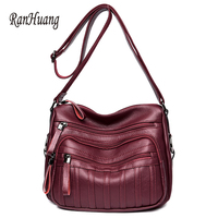 RanHuang 2017 Autumn Winter Women Vintage Shoulder Bags High Quality Leather Messenger Bags Ladies Luxury Crossbody
