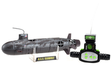 2017 Gifts Radio RC Submarine Model Remote Control Submersible Boat High Speed with Camouflage Green/Gray Foam Box