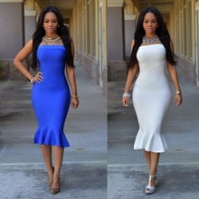 Wholesale 2016 Summer Lady Fashion Dress With Strapless Casual Dress Fashion Women Clothing LY151