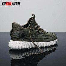 цена 2019 Pigskin Wear Resistant Lace-Up Outdoor Running Shoes Fashion Men Popular Cushioning Coconut Sport Sneakers онлайн в 2017 году