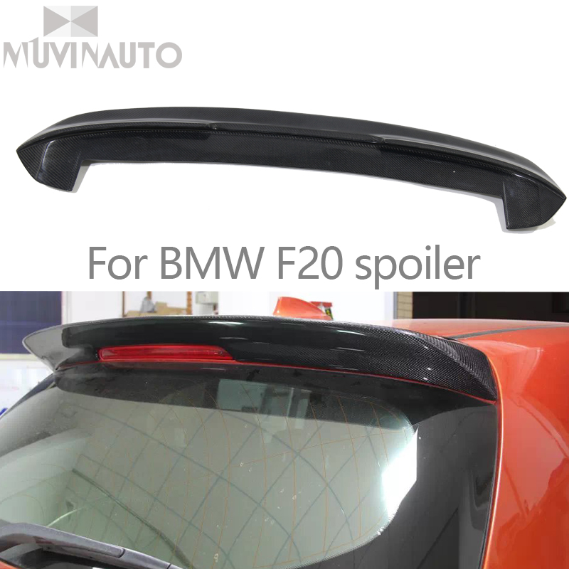 For <font><b>BMW</b></font> F20 Carbon <font><b>Spoiler</b></font> 2012 - 2016 116i 118i 125i F20 <font><b>F21</b></font> <font><b>Spoiler</b></font> 3D Design Carbon Fiber Rear <font><b>Spoiler</b></font> Car Styling image