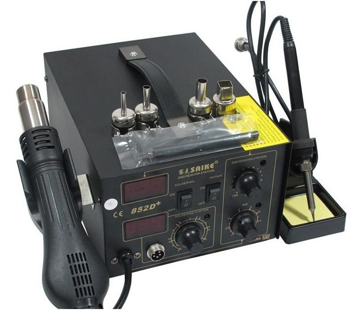 Паяльная станция с горячим воздухом SAIKE 852D + пистолет с горячим воздухом и паяльник 2 в 1