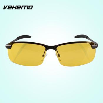 Vehemo Night Driving Anti Glare HD Glasses Polarized Yellow Lenses Driver Sunglasses