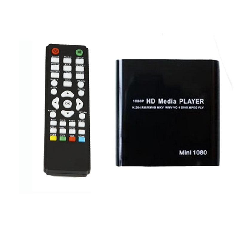 Hot Selling 1080P Mini HDD Media Player MKV/H.264/RMVB HD Adapter Combos with HOST USB/SD Card Reader Black Feb07 корпус для hdd orico 9528u3 2 3 5 ii iii hdd hd 20 usb3 0 5